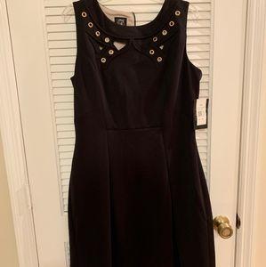 Jax Sleevless Dress Black with Cutouts